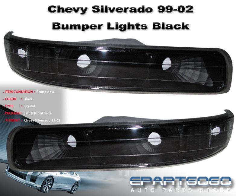 1999 2002 chevy silverado 2000 2006 tahoe suburban black signal bumper lights ebay