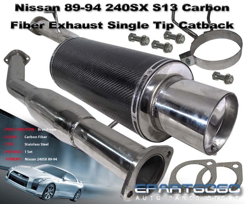 89 94 240sx s13 sr20det n1 carbon fiber canister exhaust system w 4 5 tip ebay 240sx carbon fiber interior
