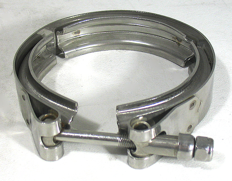 Quot v band t bolt clamp x turbo exhaust cnc flange kit