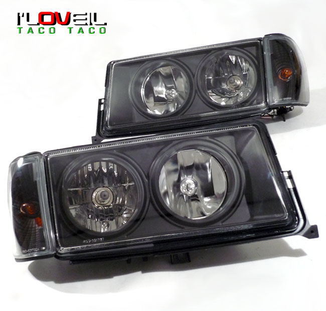 1982 1993 mercedes benz w201 190e 190d 4pc euro headlights for Mercedes benz 190e headlights